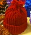 Red knitted hat