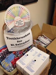 The toothbrushes are piling up!