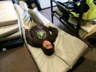 Dylan relaxing at the Frozen Fellowship