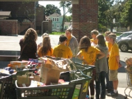 Learning about the food pantry