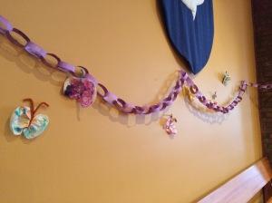 Lenten chain on wall