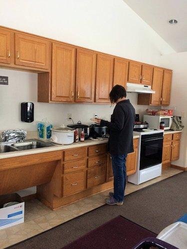 Getting food ready