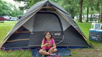 Bendy Jesus camping